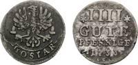 Goslar, Stadt 4 Gute Pfennig 1733 Sehr selten. Kl. Schrötlingsfehler am ... 46,00 EUR  zzgl. 3,00 EUR Versand
