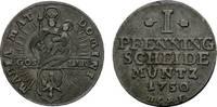 Goslar, Stadt Cu Pfennig 1750 HCRF Sehr schön  26,00 EUR  zzgl. 3,00 EUR Versand