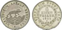 1/6 Taler 1861 A Anhalt-Bernburg Alexander Carl 1834-1863 Fast vorzügli... 27,00 EUR  zzgl. 3,00 EUR Versand