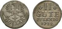 2 Gute Pfennig 1712 Goslar, Stadt  Selten. Leicht gewellt, sehr schön  32,00 EUR  zzgl. 3,00 EUR Versand