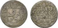 Kreuzer 1721 BIB Hessen-Darmstadt Ernst Ludwig 1678-1739 Sehr schön  18,00 EUR  zzgl. 3,00 EUR Versand