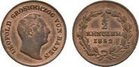 Cu 1/2 Kreuzer 1852 Baden-Durlach Leopold 1830-1852 Fast vorzüglich  18,00 EUR  zzgl. 3,00 EUR Versand