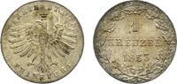 Kreuzer 1853 Frankfurt, Stadt  Sehr schön - vorzüglich  23,00 EUR  zzgl. 3,00 EUR Versand