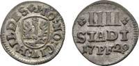 4 Stadtpfennig 1729 Hildesheim, Stadt  Sehr schön  18,00 EUR  zzgl. 3,00 EUR Versand