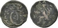 Albus 1696 IVF Hessen-Kassel Karl 1670-1730 Etwas Belag, sehr schön  18,00 EUR  zzgl. 3,00 EUR Versand