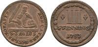 Cu 3 Pfennig 1753 Münster, Domkapitel  Sehr schön +  18,00 EUR  zzgl. 3,00 EUR Versand
