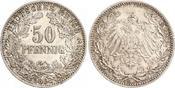50 Pfennig 1898 Kleinmünzen  Schöne Patina. Fast Stempelglanz