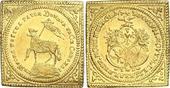 Lammdukatenklippe Gold 1700 Nürnberg-Stadt  Vorzüglich