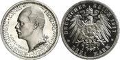 3 Mark 1917 Hessen Ernst Ludwig 1892-1918. Prachtexemplar. Nur minimaler Kratzer, Polierte Platte