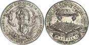 Silbermedaille 1650 Sachsen-Albertinische Linie Johann Georg I. 1615-1656. Feine Patina. Fast vorzüglich  /  vorzüglich