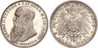 3 Mark 1915 Sachsen-Meiningen Georg II. 1866-1914. Feine Patina. Minima... 480,00 EUR