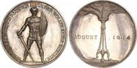 Silbermedaille 1914 Erster Weltkrieg Allgemeine Propaganda Schöne Patin... 290,00 EUR kostenloser Versand
