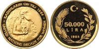 50000 Lira Gold 1984 Türkei Republik. Polierte Platte  450,00 EUR kostenloser Versand