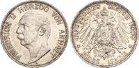 3 Mark 1909  A Anhalt Friedrich II. 1904-1918. Schöne Patina. Winzige K... 140,00 EUR  zzgl. 4,00 EUR Versand