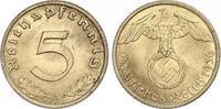 5 Pfennig 1936  A Drittes Reich  Fast Stempelglanz  130,00 EUR  zzgl. 4,00 EUR Versand