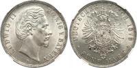 5 Mark 1876 Bayern Ludwig II. 1864-1886. Fast Stempelglanz  790,00 EUR Gratis verzending