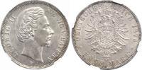 5 Mark 1876 Bayern Ludwig II. 1864-1886. Vorzüglich +  350,00 EUR kostenloser Versand