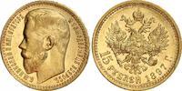 15 Rubel Gold 1897 Russland Nikolaus II. 1...