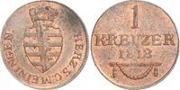 Cu Kreuzer 1818 Sachsen-Meiningen Bernhard Erich Freund 1803-1866. Vorz... 80,00 EUR  zzgl. 4,00 EUR Versand