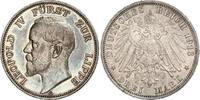 3 Mark 1913  A Lippe Leopold IV. 1904-1918. Schöne Patina. Winzige Rand... 480,00 EUR kostenloser Versand