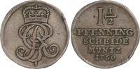 1 1/2 Pfennig 1750  S Braunschweig-Calenberg-Hannover Georg II. 1727-17... 35,00 EUR  zzgl. 4,00 EUR Versand