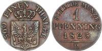 Cu Pfennig 1825  D Brandenburg-Preußen Friedrich Wilhelm III. 1797-1840... 45,00 EUR  zzgl. 4,00 EUR Versand