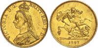 5 Pounds Gold 1887 Großbritannien Victoria 1837-1901. Einige Randfehler... 2300,00 EUR kostenloser Versand