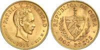2 Pesos Gold 1916 Kuba Republik seit Winziger Randfehler, vorzüglich - ... 240,00 EUR kostenloser Versand