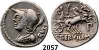 Roman Republic AR Denarius 100 BC ss P. Servilius M.f Rullus, Victory in... 129,00 EUR  zzgl. 15,00 EUR Versand