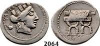 Roman Republic AR Denarius 84 BC ss P. Furius Crassipes, Curule chair 109,00 EUR  zzgl. 15,00 EUR Versand
