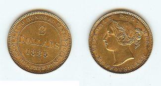 Canada new foundland $2 1885 unz