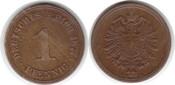 Pfennig 1877 Kaiserreich A fast vorzüglich