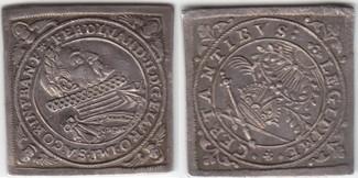 Klippe o.J. (1619) Frankfurt, Stadt Auf die Krönung Ferdinands II. zum deutschen Kaiser kl. Schrötlingsfehler, vorzüglich