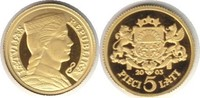 5 Lati 2003 Baltikum Lettland Gold 5 Lati 2003 GOLD. Polierte Platte  95,00 EUR