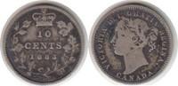 10 Cents 1883 Kanada Victoria 10 Cents 1883 H schön - sehr schön  95,00 EUR  zzgl. 4,00 EUR Versand