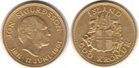 500 Kronen 1961 Island Gold 500 Kronen 1961 GOLD. fast Stempelglanz  450,00 EUR  zzgl. 4,00 EUR Versand