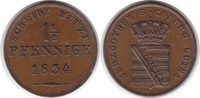 1 1/2 Pfennig 1834 Altdeutschland Sachsen-Coburg-Gotha Ernst I. 1 1/2 P... 175,00 EUR  zzgl. 4,00 EUR Versand