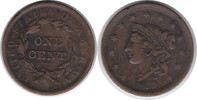 Large Cent 1839 USA Large Cent 1839 Randfehler, sehr schön  35,00 EUR  zzgl. 4,00 EUR Versand
