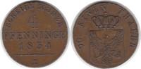 4 Pfennig 1834 Altdeutschland Brandenburg-Preussen Friedrich Wilhelm II... 125,00 EUR  zzgl. 4,00 EUR Versand