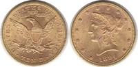 10 Dollars 1894 USA Gold 10 Dollars 1894 GOLD. vorzüglich - Stempelglanz  825,00 EUR  zzgl. 4,00 EUR Versand