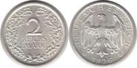 2 Mark 1926 Weimarer Republik 2 Mark 1926 A fast Stempelglanz  50,00 EUR