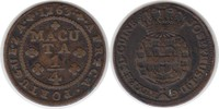 1/4 Macuta 1763 Portugal Angola Jose I. 1/4 Macuta 1763 sehr schön  75,00 EUR