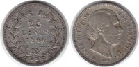 25 Cents 1849 Niederlande Wilhelm III. 1849-1890 Kratzer, sehr schön  225,00 EUR  +  5,00 EUR shipping