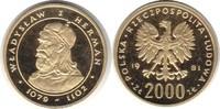 2000 Zlotych 1981 Polen Volksrepublik Wladyslaw I. Herman Gold. Poliert... 395,00 EUR  zzgl. 4,00 EUR Versand