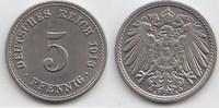 5 Pfennig 1913 A Kaiserreich  Fast Stempelglanz  15,00 EUR  zzgl. 4,00 EUR Versand