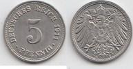 5 Pfennig 1911 A Kaiserreich  Fast Stempelglanz  12,00 EUR  zzgl. 4,00 EUR Versand