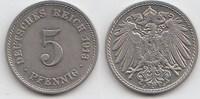 5 Pfennig 1913 J Kaiserreich  Vorzüglich +  35,00 EUR  zzgl. 4,00 EUR Versand
