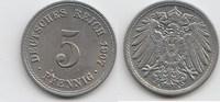 5 Pfennig 1907 A Kaiserreich  Vorzüglich-Stempelglanz  8,00 EUR  zzgl. 4,00 EUR Versand