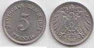 5 Pfennig 1914 F Kaiserreich  Fast Stempelglanz  12,00 EUR  zzgl. 4,00 EUR Versand