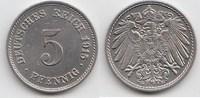 5 Pfennig 1915 G Kaiserreich  Kleine Kratzer, vorzüglich-Stempelglanz  18,00 EUR  zzgl. 4,00 EUR Versand